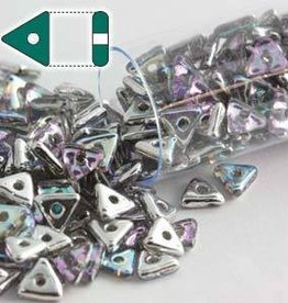 9 GM 4.6x1.3mm Tri Bead : Crystal Silver Rainbow (APX 215 PCS)