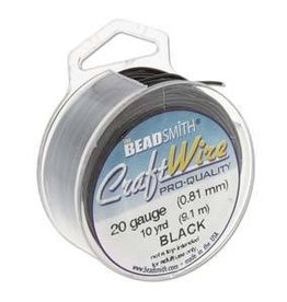 20 YD 24GA Craft Wire : Black
