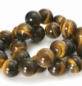 "Tiger Eye : 10mm Round 15.5"" Strand"