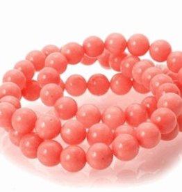 "Pink Coral : 6mm Round 15.5"" Strand"