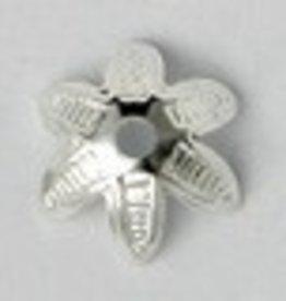 25 PC SP 9mm Flower Bead Cap