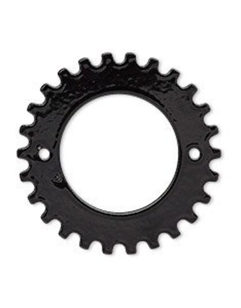 1 PC BLK 29mm 2 Hole Gear fits 18mm Rivoli