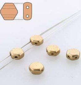 30 PC 6mm Honeycomb : Pale Gold