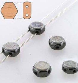 30 PC 6mm Honeycomb : Hematite