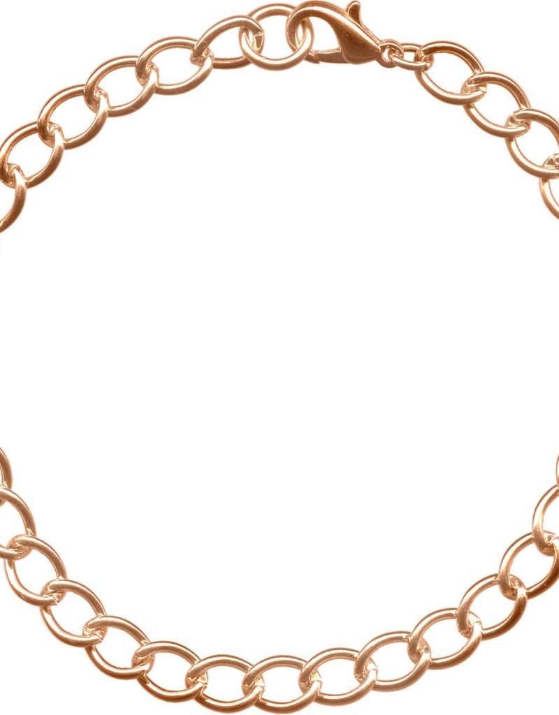 "1 PC CP 7.5-8.5"" Curb Chain Bracelet"