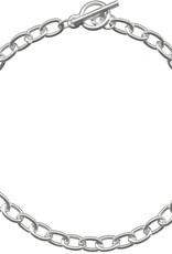 """1 PC ASP 7.5"""" Oval Chain Bracelet with Toggle"""