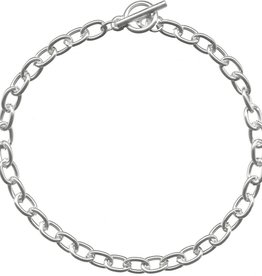 "1 PC ASP 7.5"" Oval Chain Bracelet with Toggle"