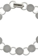 """1 PC SP 7.25"""" Disc & Loop Bracelet"""
