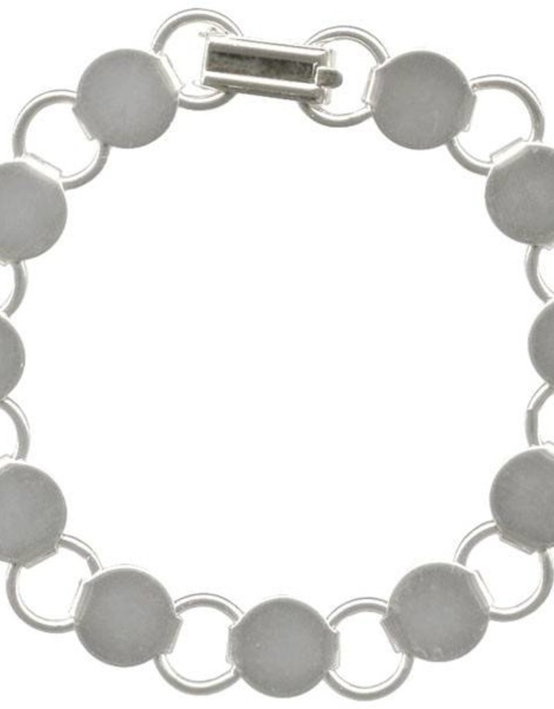 "1 PC SP 7.25"" Disc & Loop Bracelet"