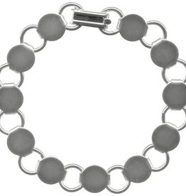 "1 PC ASP 7.25"" Disc & Loop Bracelet"