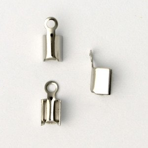 10 PC ASP 8x3mm Fold Over Cord End