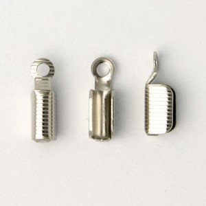 10 PC ASP 8x3.5mm Fold Over Cord End
