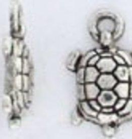 2 PC ASP 14x9mm Turtle Charm