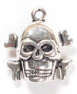 1 PC ASP 17x18mm Skull & Crossbones Charm