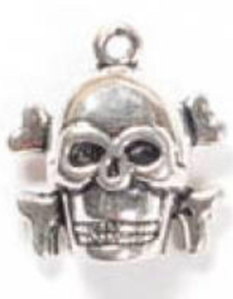 1 PC ASP 17x18mm Skull & Crossbones Charm