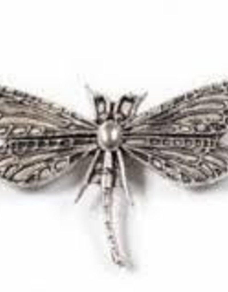 1 PC ASP 49x30mm 2 Hole Dragonfly Charm
