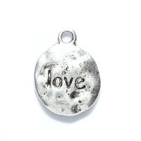 "1 PC ASP 12mm ""Love"" Charm"