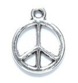 2 PC ASP 17mm Peace Charm