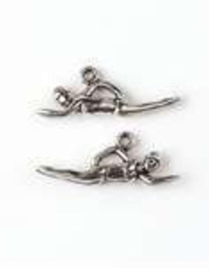 1 PC ASP 11x30mm Swimmer Charm