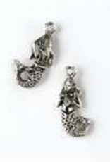 1 PC ASP 9x23mm Mermaid Charm