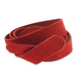 "24""x.5"" Leather Strip No Snaps : Red"