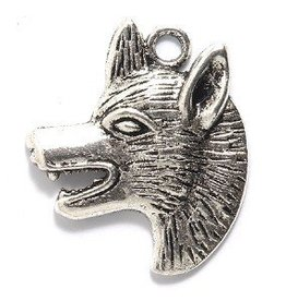1 PC ASP 29x35mm Dog Head Charm