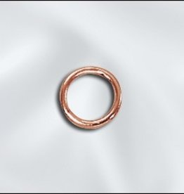 25 PC Solid Copper 19GA 6mm Closed Jumpring