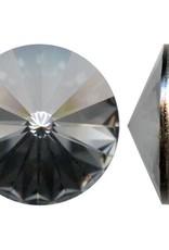1 PC 18mm Swarovski Rivoli : Crystal Silver Night