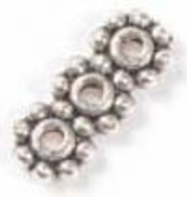 12 PC ASP 11x4mm 3 Hole Beaded Spacer Bar
