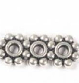 4 PC ASP 19x8mm 3 Hole Beaded Spacer Bar