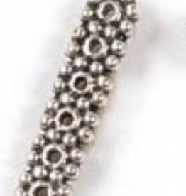 8 PC ASP 20x5mm 6 Hole Beaded Spacer Bar