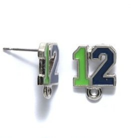 2 PC ASP Green/Blue #12 Earring Post