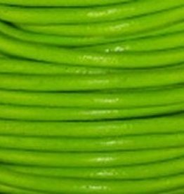2 YD 2.0mm Lime Green Greek Leather