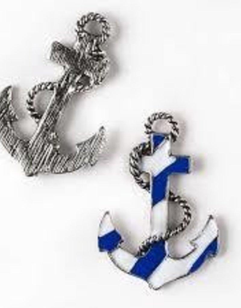 1 PC ASP Blue & White Anchor Charm