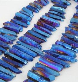 """Titanium Quartz Stick : Rainbow Blue 15.5"""" Strand"""