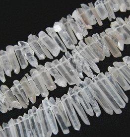 """Quartz Crystal : Stick 15.5"""" Strand"""