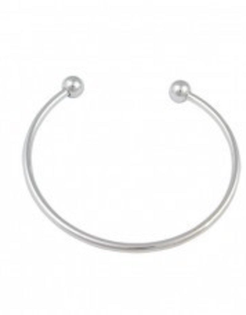 1 PC SP 3mm Bangle Bracelet Removable Ball Ends