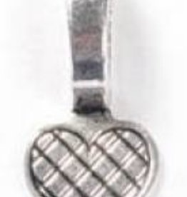 4 PC ASP 21x10mm Glue On Heart Bail