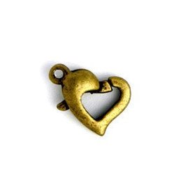 12 PC ABP 12x10mm Heart Lobster Claw Clasp
