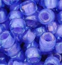 7.5 GM Toho Round 6/0 : Inside-Color  Lt Sapphire/Opaque Purple Lined