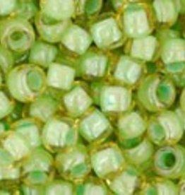 8 GM Toho Round 8/0 : Inside-Color Jonquil/Mint Julep Lined