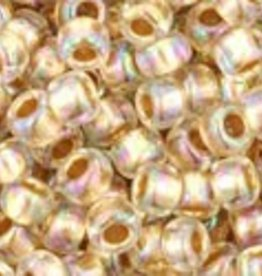 8 GM Toho Round 8/0 : Gold-Lined Rainbow Crystal