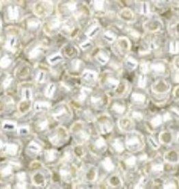 9 GM Toho Round 15/0 : Silver-Lined Milky White