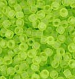 9 GM Toho Round 15/0  : Transparent-Frosted Lime Green