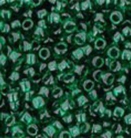 9 GM Toho Round 15/0  : Transparent Green Emerald