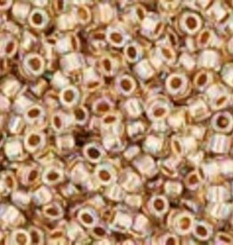 9 GM Toho Round 15/0 : Gold-Lined Rainbow Crystal