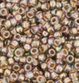 9 GM Toho Round 15/0 : Gold-Lined Rainbow Black Diamond