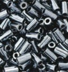 7 GM Toho Bugle #1 3mm  : Metallic Hematite (APX 600 PCS)