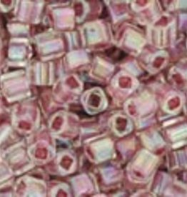8 GM Toho Cube 1.5mm : Inside-Color Rainbow Crystal/Strawberry Lined (APX 850 PCS)