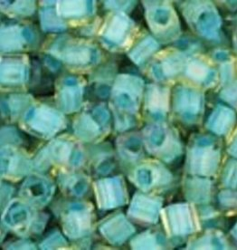 8 GM Toho Cube 1.5mm : Inside-Color Rainbow Lt Topaz/Sea Foam Lined (APX 850 PCS)